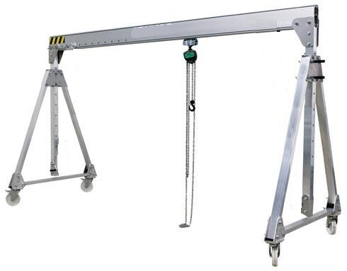 Adjustable Height and Width Aluminum Gantry Cranes, Material
