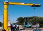 Jib crane 4 tons. with electric rotation 360°